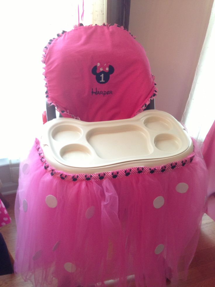 minnie mouse high chair decoration 2