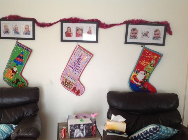This is a photo of three stockings I embroided,beaded and made for my grandchildren. Again I have found some delightful pre printed panels, then embellished them with my style.
