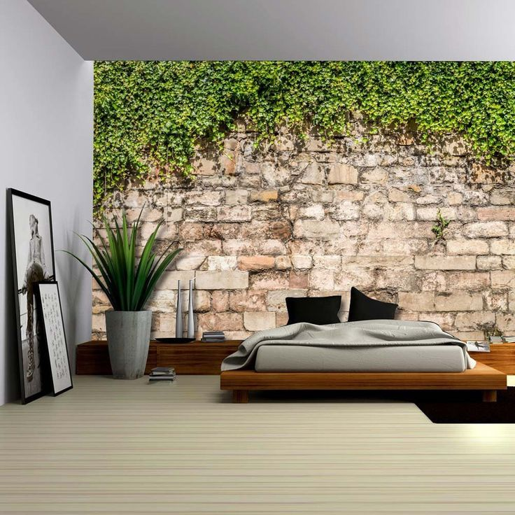 Green Vines Draping from an Old Brick Wall-Wall Mural,Removable Wallpaper-66x96  by Wall26Store on Etsy https://www.etsy.com/listing/398985569/green-vines-draping-from-an-old-brick