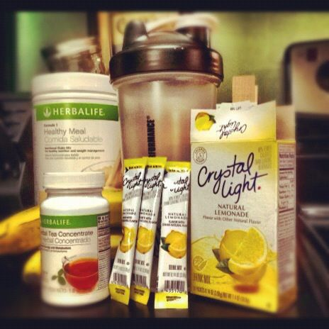 Add Crystal Light to Herbalife tea concentrate to experiment with new flavors!