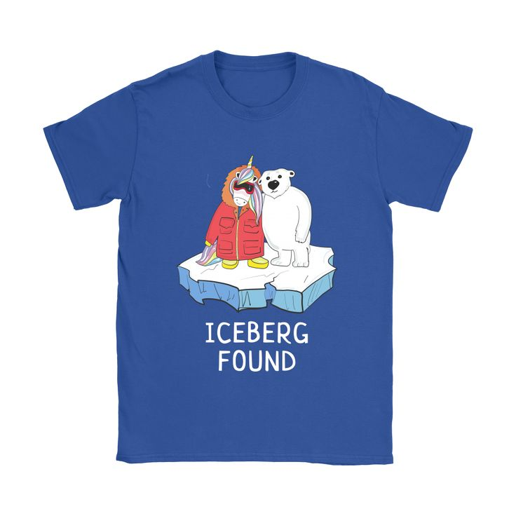 Stand up for nature in this graphic tshirt with Unicorn Ma and Polar Bear on Antarctica Iceberg.Great tee for someone who cares about environment, climate chan