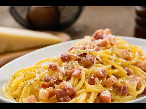 The authentic italian pasta alla carbonara-- to try at home so I can reminisce about Rome
