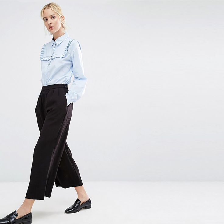 KMD KOMODA Ruffles Blouse Shirt Women Blue Long Sleeve Cute Blouses Female Elegant Casual Top Office Ladies
