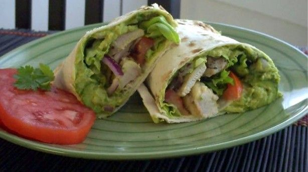 Chicken & Guacamole Wraps: Eating Well, Best Recipes, Guacamole Wraps, Chicken Wraps, Chicken Recipes, Guacamolechickenwrap 1, Girls Eating, Guacamole Chicken, Chicken And Guacamole