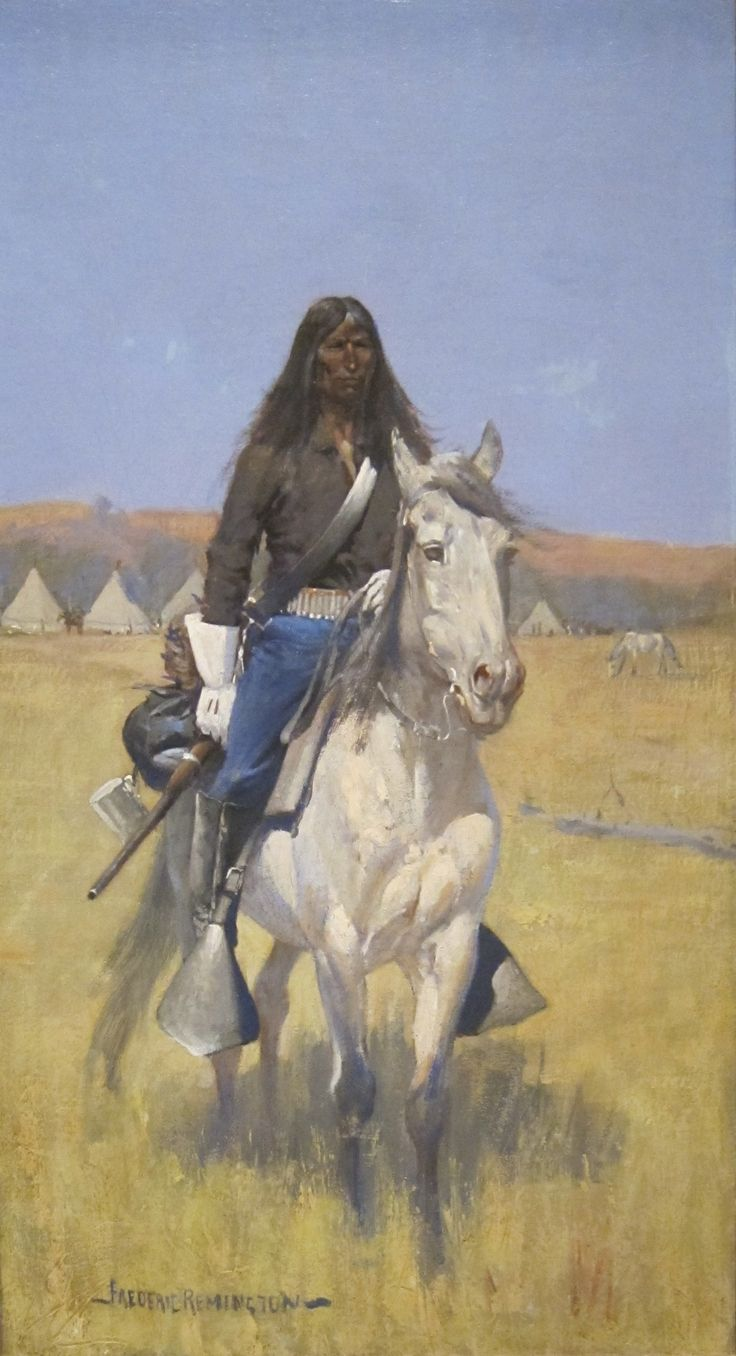 Image detail for -... Mounted Indian Scout' by Frederic Remington, Cincinnati Art Museum.JPG