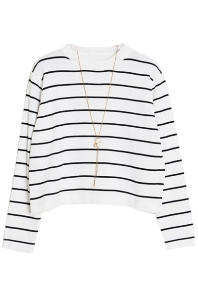 Classic Striped Crooped SweaterOASAP Giveaway, 10 pieces per day, till the end of 2014! Easiest way to get free clothing!