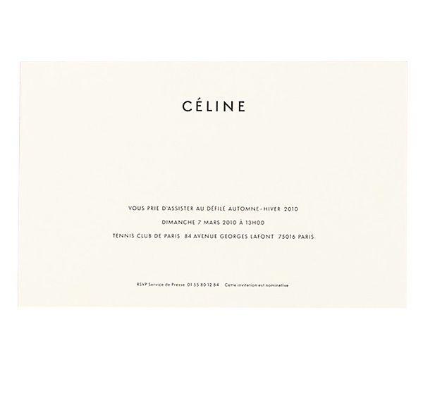 CÉLINE invitation / branding / design / minimal / simple / timeless