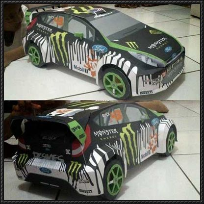 WRC 2010 Ford Fiesta Ken Block's Car Free Paper Model Download - http://www.papercraftsquare.com/wrc-2010-ford-fiesta-ken-blocks-car-free-paper-model-download.html