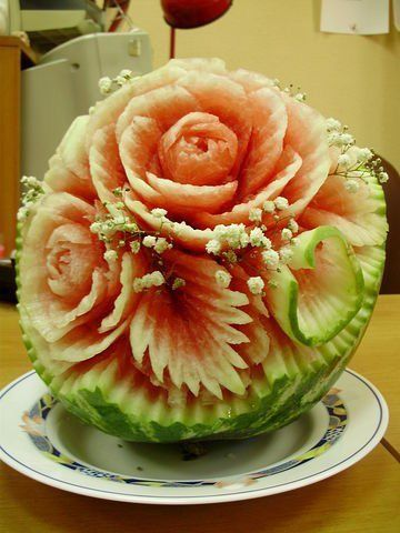 Best MELON SQUASH CARVINGS Images On Pinterest Fruit - Incredible sculptures carved watermelon