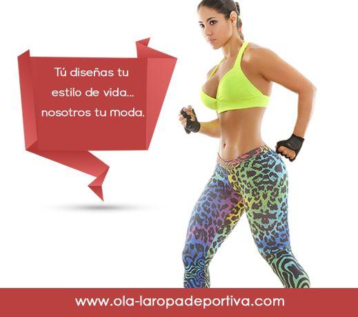 Tú diseñas tu estilo de vida...nosotros tu moda.  #Moda #Color #Vida #Deporte #Colombia #Bogotá  http://www.ola-laropadeportiva.com/conjuntos/39-conjunto-deportivo-leggins-animal-print-top-unicolor.html