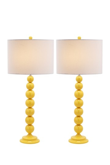 Safavieh  Jenna Yellow Stacked Ball Lamp