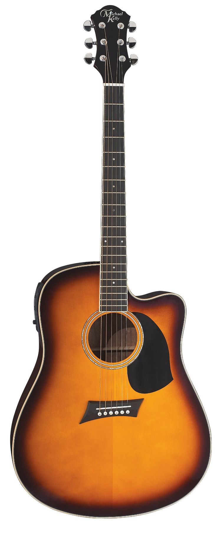 Michael Kelly Nostalgia N10CE N10CETSB Acoustic Electric Guitar. Michael Kelly AO3T 3-band EQ. Spruce Top. Cutaway. Dovetail Joint Construction. D'Addario Strings.