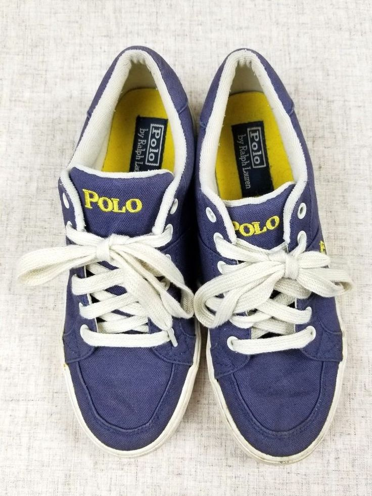 POLO by RALPH LAUREN Humberto Canvas Blue Boat Shoes Sneakers sz 8D #PoloRalphLauren #BoatShoes