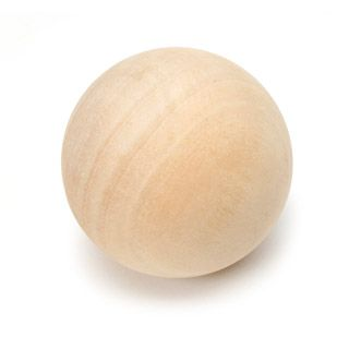 Unfinished Wooden Ball - 2.5 inch Sphere