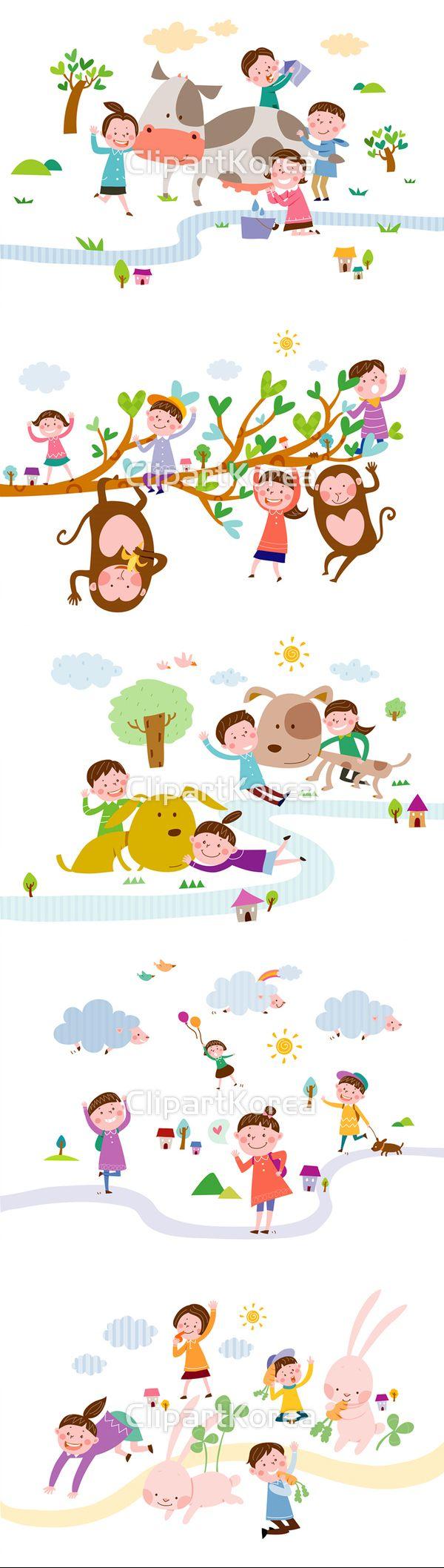 사랑스러운 동물와 어린이 :) Lovely animals and Kids:)  #강아지 #귀여움  #동물  #미소 #어린이 #어린이 #우정  #일러스트 #즐거움 #친구 #태양 #소  #클로버 #태양 #토끼 #양  #풍선 #하트 #Puppy #cute #animal #smile #Child #friendship #illustration #joy #friend #clover #sun #Rabbit #Heart #Balloon