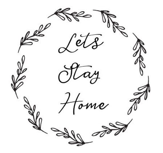 Home Decor Printable Farmhouse Wreath Simple Black And White Etsy Printable Art Quotes Lets Stay Home Print Design Pattern
