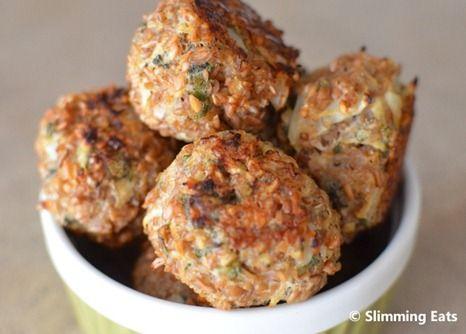 Bulgur Wheat Sage and Onion Stuffing Balls   Slimming Eats - Slimming World Recipes