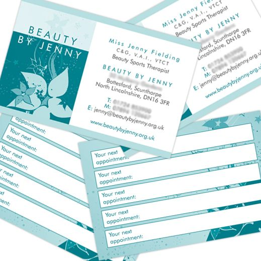 Beauty By Jenny Business Cards