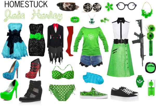 """Homestuck Fashion: Jade Harley"" by khainsaw on Polyvore"