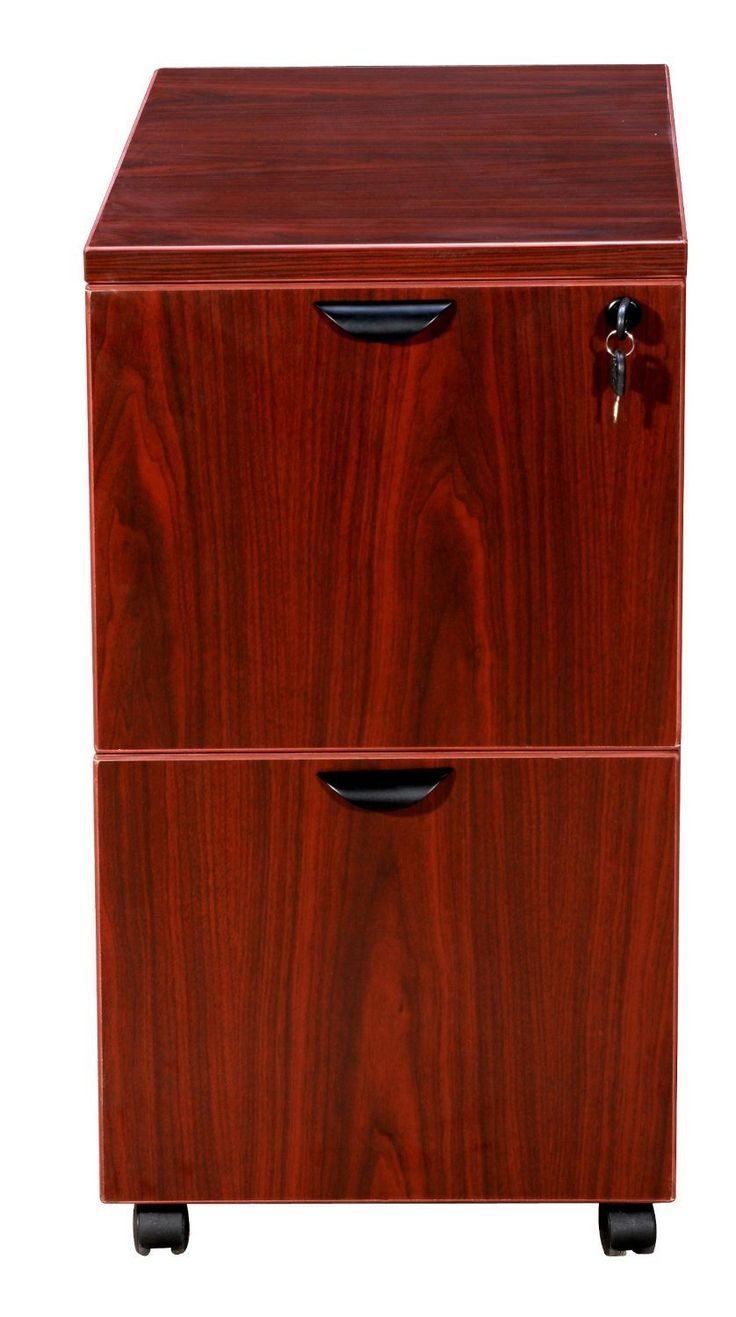 Boss Office Products N149-M Boss Mobile Pedestal, File/File Mahogany 16*22*29.5H