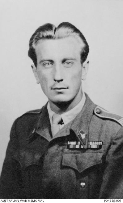 Studio portrait of Corporal (Cpl) Henry Rodziewicz, Polish Second Corps, wearing the ribbons for his medals won during his service from 1 April 1942 until 20 November 1946 in support for the ...