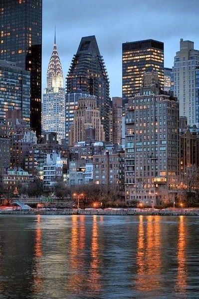 New York -City and River-USA