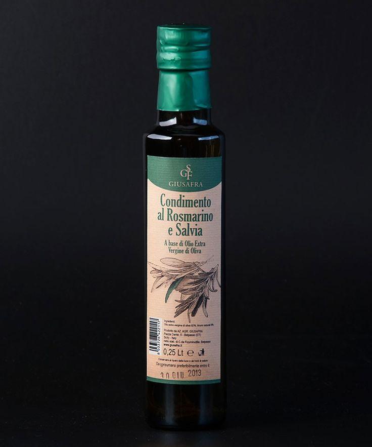La Sicilia Store Olio extravergine di oliva aromatizzato al rosmarino e salvia
