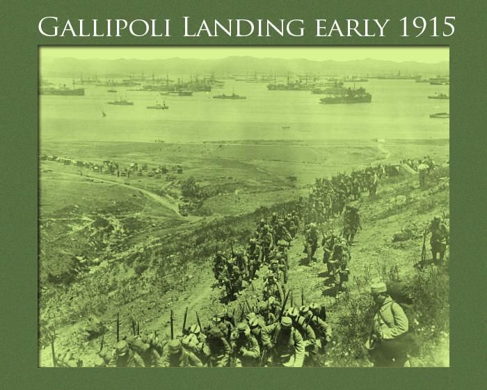 Preparations for Gallipoli- allied soldiers landing, early 1915 on the island of Lemnos