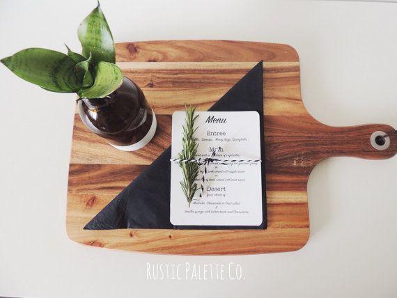 Custom Menu by rusticpaletteco on Etsy