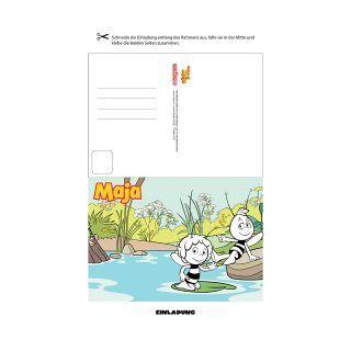 Tolle Einladungskarten Für Deinen Maja Kindergeburtstag! Die Biene Maja Und  Willi Werden Deine Freunde Gleich Auch Toll Finden!