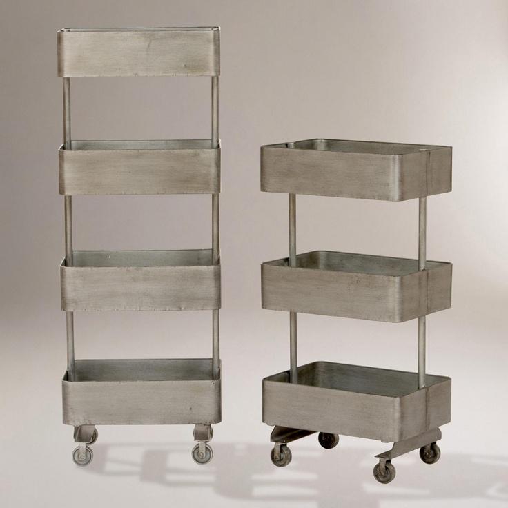 Fun Storage and useful.Jayden Metal Shelf Units   World Market
