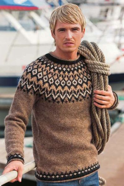 Men's traditonal Icelandic wool sweater