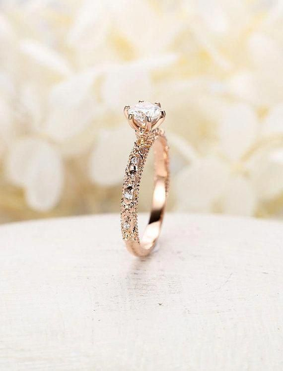 Idea By Tammy Blair On Diamond Wedding Sets In 2020 Rose Gold