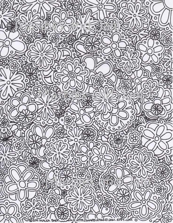 Flowers Abstract Coloring Page This Is A Digital File Purchase The Single PDF Of My Original