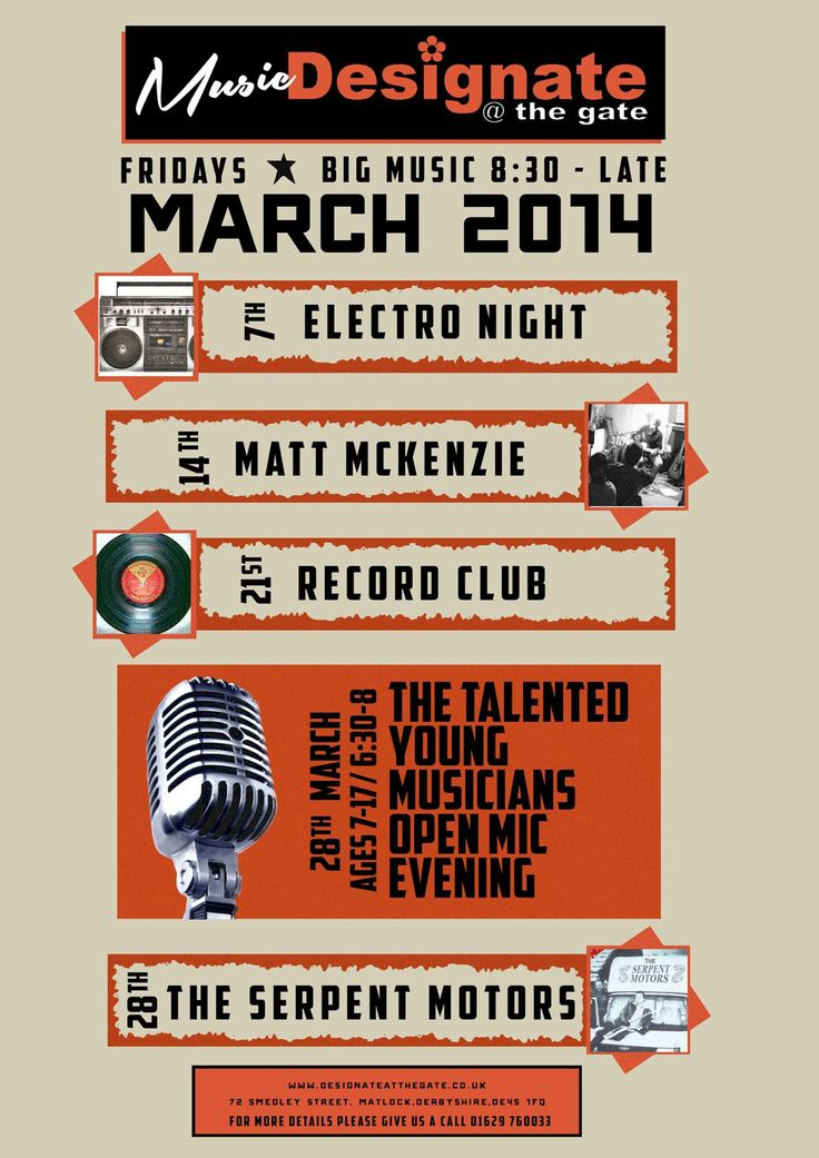 Music in March at Designate @ the gate, Matlock, Derbyshire