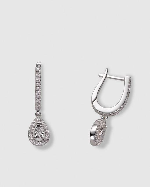 578befd10756 Pendientes Cachemire en oro blanco y diamantes El Corte Inglés ...