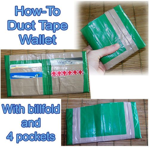 Duct Tape Wallet. Learn how to make a duct tape wallet with this complete duct tape wallet photo tutorial. A duct tape wallet is easy to make.