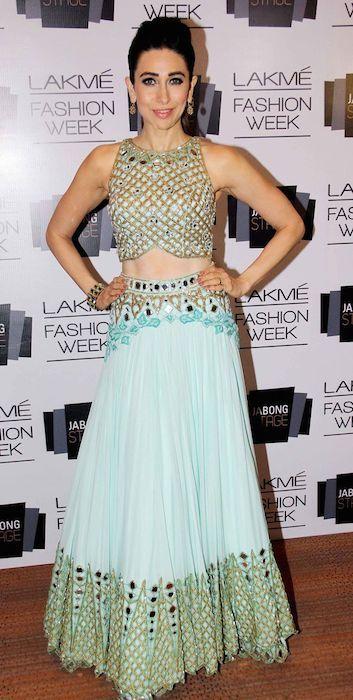 Indian actress, Karishma Kapoor at Lakme Fashion Week 2014...