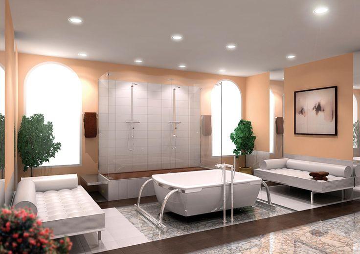 Salon czy łazienka? Kto powiedział, że te przestrzenie należy rozgraniczać?  Awangarda rządzi się własnymi prawami :)