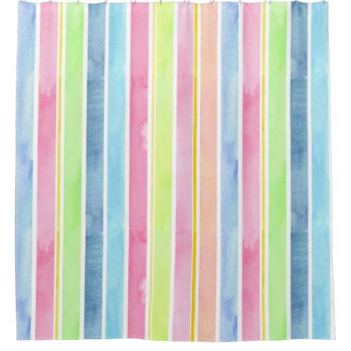 Pastel Watercolor Vertical Stripes Shower Curtain @zazzle #stripes #green #pink #blue #shower #curtain #bath #bathroom #home #decor #homedecor #chic #style #modern #buy #shop #sale #shopping #blog #blogging #look #marketing #nice #apartment #house #student #college #dorm