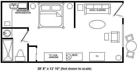 Boca Raton Hotel Accommodations- Royal Palm Suite Floor Plan