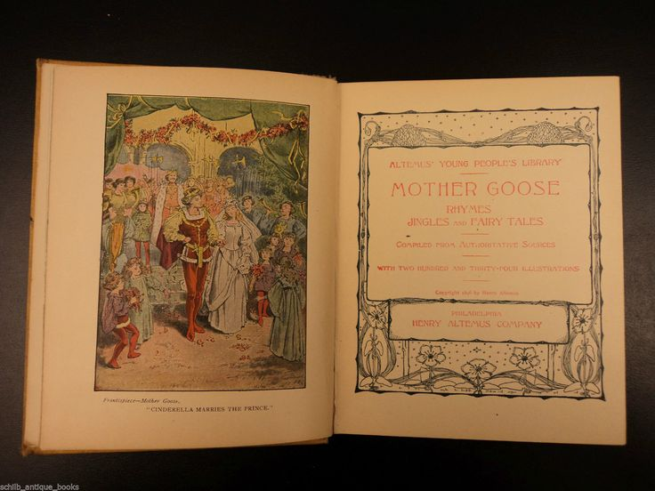 1896 Mother Goose Nursery Rhymes Tom Thumb Jack & Beanstalk Fairy Tales Art in Books, Antiquarian & Collectible | eBay
