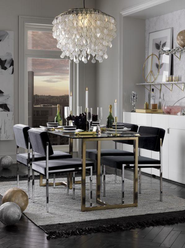 Silverado Brass 72 Rectangular Dining Table Rectangular Dining