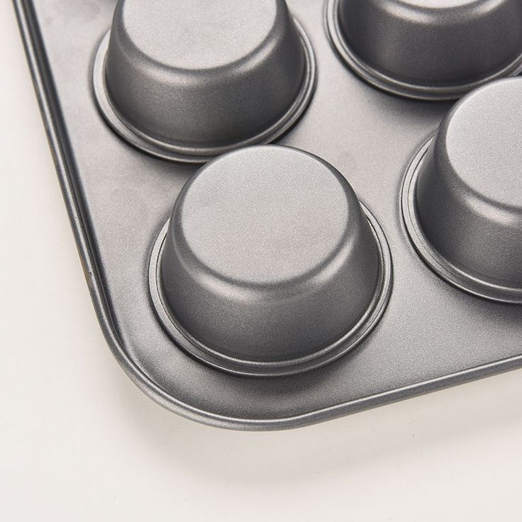 New 12Cup Metal Nonstick Cupcake Baking Mold Pan Tray Tin Cake Pudding Muffin bw #Unbranded