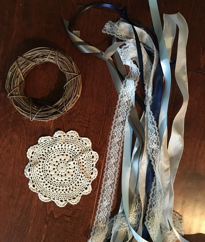 DIY Doily and Grapevine Wreath Dream Catcher Supplies