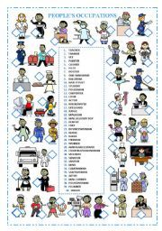 English teaching worksheets: Jobs/occupations/professions