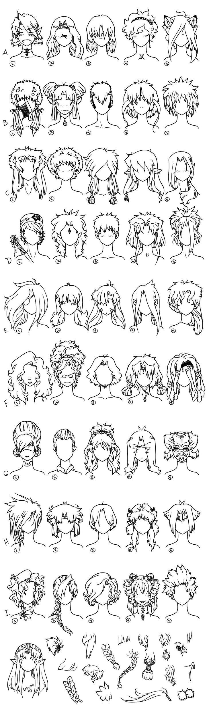 Superb 1000 Ideas About Anime Hair On Pinterest Hair Reference Short Hairstyles For Black Women Fulllsitofus