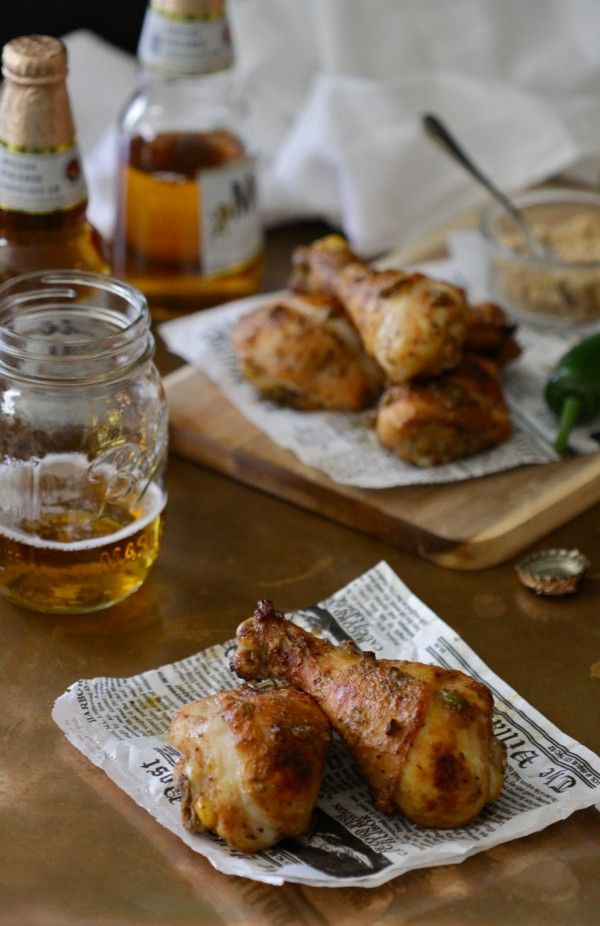 Climbing Grier Mountain » spiced chicken drumsticks with brown sugar and jalapeños. Trying this tonight!