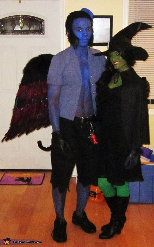 Anthony: Alexandra is dressed up as the wicked witch of the west and I am dressed up as a flying monkey. It was our first Halloween where we decided to do...