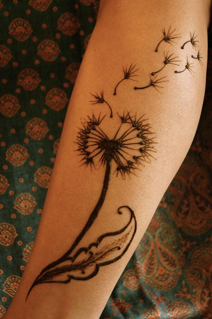 Dandelion whisked away | by Meghan's Mehndi